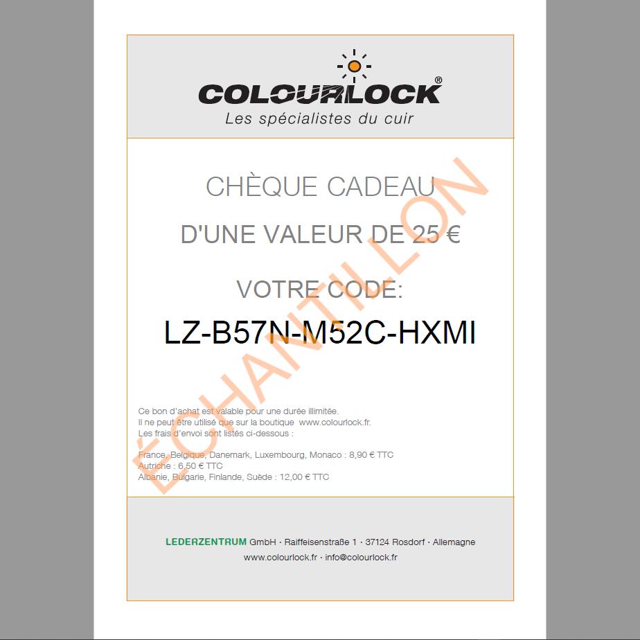 Chèque cadeau COLOURLOCK®, 25 euros