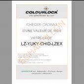 Chèque cadeau COLOURLOCK®, 100 euros